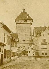 Das Tübinger Tor zwischen 1870 bis 1879