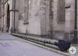 Sturmbock neben der Marienkirche