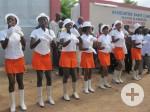 """Tanzvorführung der """"Majorettes"""" bei der Einweihungszeremonie"""