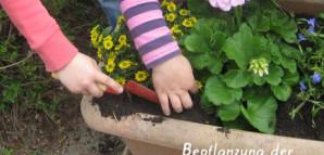 Kindergarten - Bepflanzung der Blumentröge