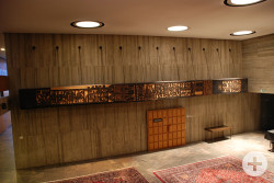 Der Sturmbock im Foyer des Rathauses