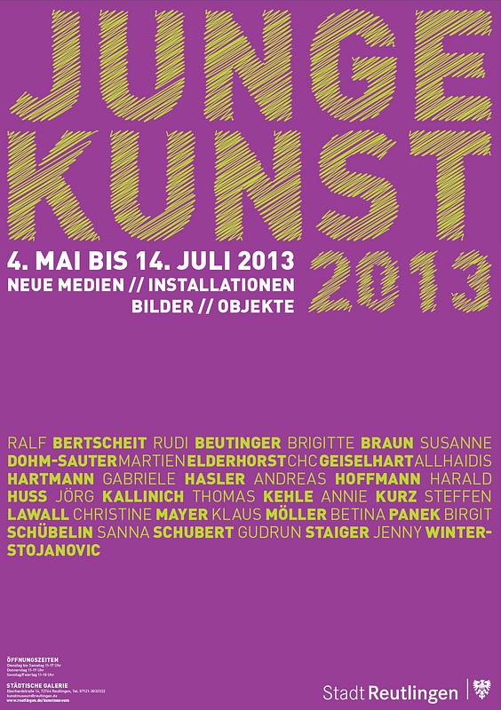 Ausstellungsplakat Junge Kunst 2013