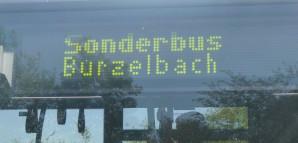 Digitalanzeige des Sonderbus Burzelbach