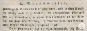 """23 Orte sind in der """"Beschreibung des Oberamts Reutlingen"""" aus dem Jahr 1824 kurz dargestellt. Auch Bronnweiler zählte zu dieser Verwaltungseinheit"""