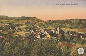 Ortsansicht Bronnweilers auf einer um 1930 entstandenen Postkarte.