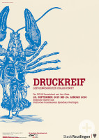 Ausstellungsplakat: Druckreif XYLON 2015