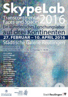 Plakat - SkypeLab: Transcontinental Faces & Spaces