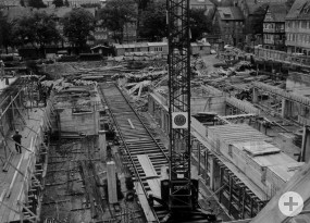 Baubeginn des neuen Rathauses im Jahr 1963