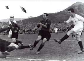 Fußballspiel SSV Reutlingen - Eintracht Frankfurt 1955