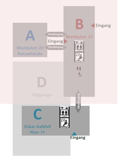 Lageplan Rathaus Reutlingen