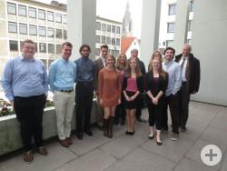 Die Gäste der Valparaiso University zusammen mit Prof. Baldur Veit, Prof. Carter Hanson mit Gattin sowie Dr. Werner Ströbele