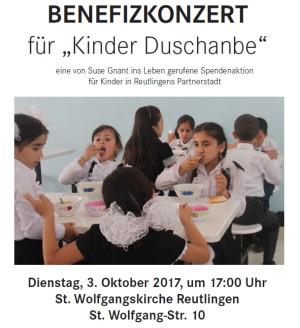 """Benefizkonzert für """"Kinder Duschanbe"""""""