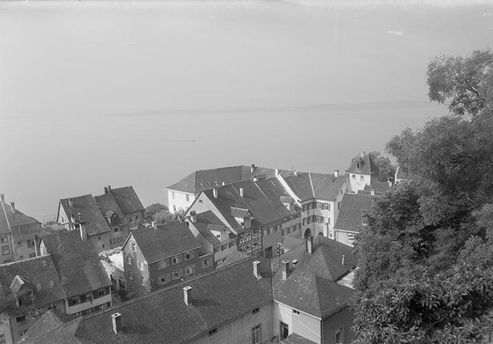 Blick auf den See in Meersburg