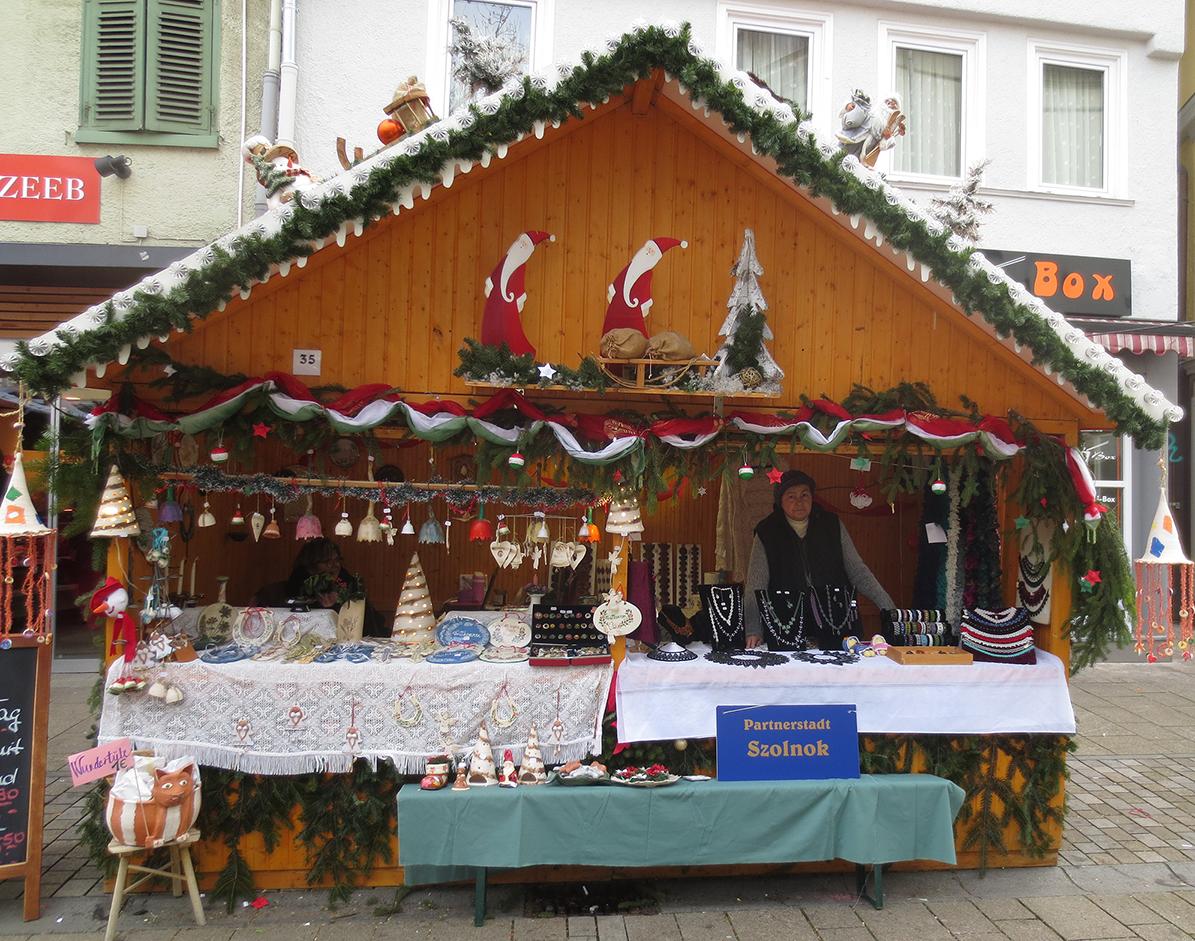 Weihnachtsmarkt Reutlingen -Stand Partnerstadt Szolnok