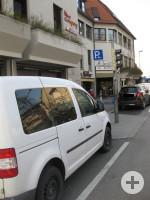 1 Behindertenparkplatz am Burgplatz