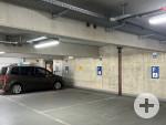 3 Behindertenparkplätze im Parkhaus Klinikum II