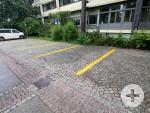 6 Behindertenparkplätze in der Rebentalstraße