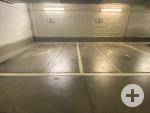 4 Behindertenparkplätze in der Tiefgarage Rathaus