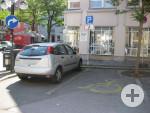 2 Behindertenparkplätze am Weibermarkt