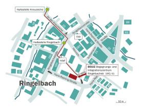 Lageplan des Begegnungs- und Integrationszentrums