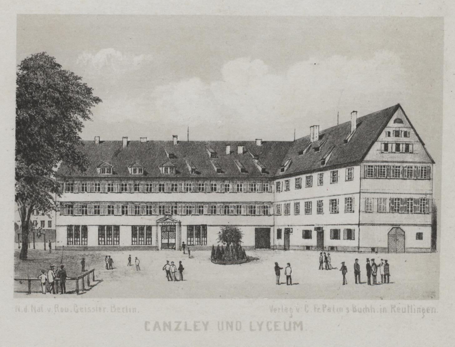 """Vor 200 Jahren bezog die damals neugebildete """"Regierung des Schwarzwaldkreises"""" eine Gebäudeanlage des 16. Jahrhunderts. Heute ist hier das Friedrich-List-Gymnasium untergebracht."""