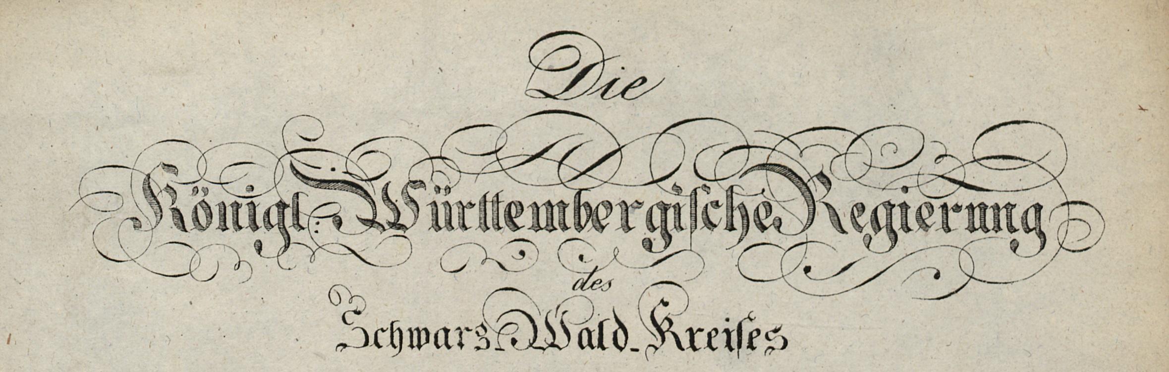 Der ab den 1820er-Jahren verwendete Briefkopf der Kreisregierung.