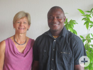 Ange Frédéric Dodohoré aus Bouaké mit Margit Fausel