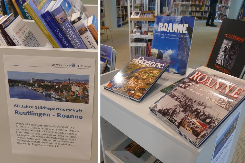 Medienausstellung zu Roanne und Frankreich in der Reutlinger Stadtbibliothek