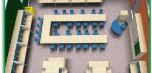 Modell eines Lerngruppenraums