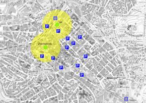 Erschließung der Innenstadt mit dem ÖPNV heute