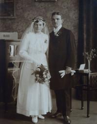 Brautpaar schwarz/weiß