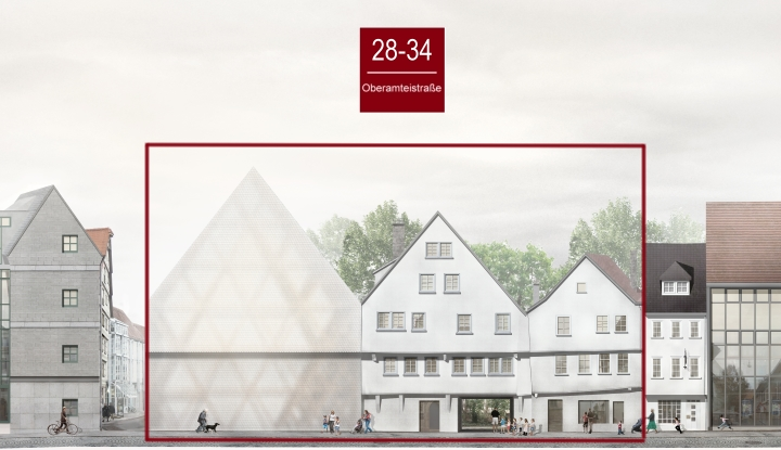 Häuserzeile Oberamteistraße 28 - 34