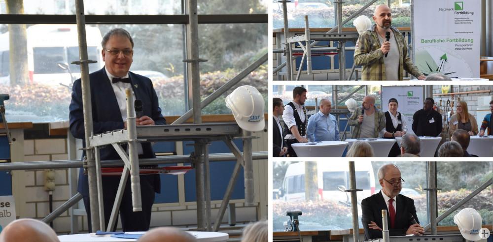 Oberbürgermeister Thomas Keck bei der Eröffnung der binea in der Kerschesteinerschule