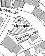 Übersichtsplan Benennung Tulpenplatz in Gönningen
