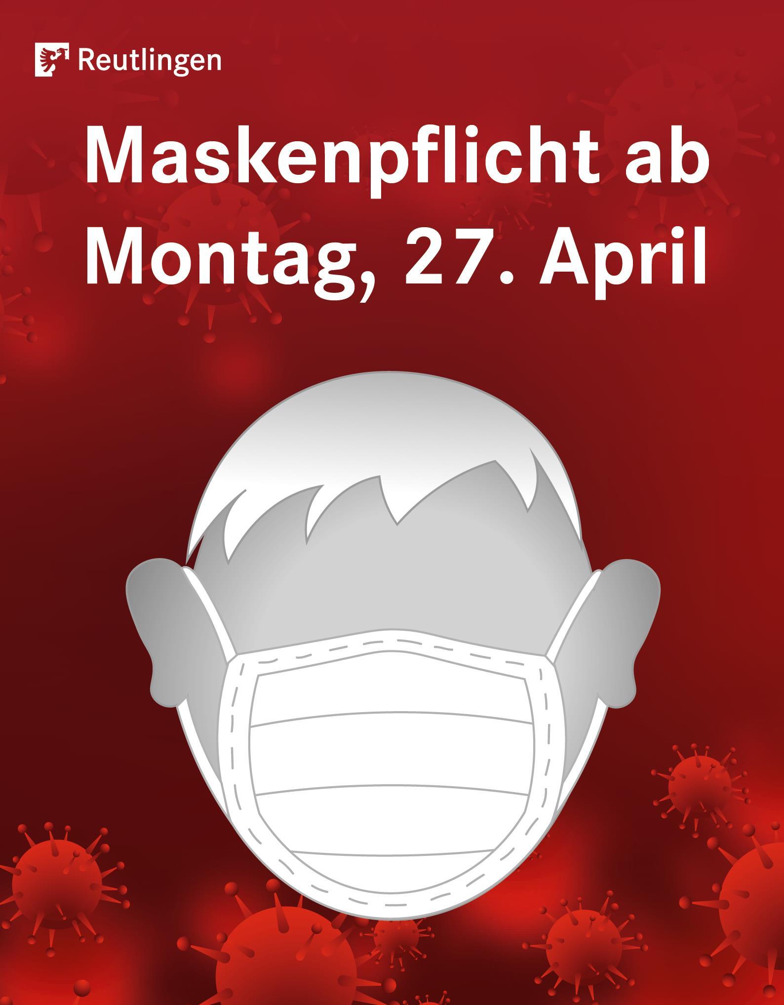 Maskenpflicht am Montag, 27. April 2020
