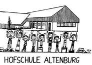 Zu sehen ist eine schwarz/weiß-Zeichnung von Kindern, die ein Schulgebäude über ihren Köpfen tragen.