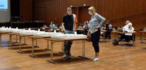 Modelle der engeren Wahl im großen Saal