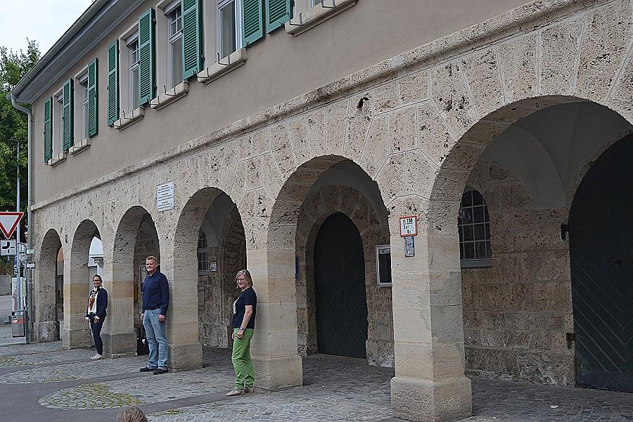 Freuen sich über die gelungene Sanierung: Katja Büchel, Balthasar Hansen, Christel Pahl (von links)