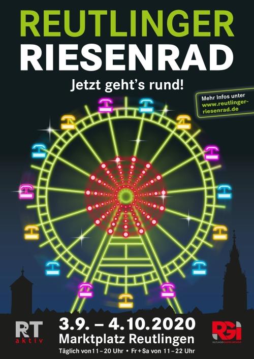 """Plakat zur Aktion """"Reutlinger Riesenrad"""""""