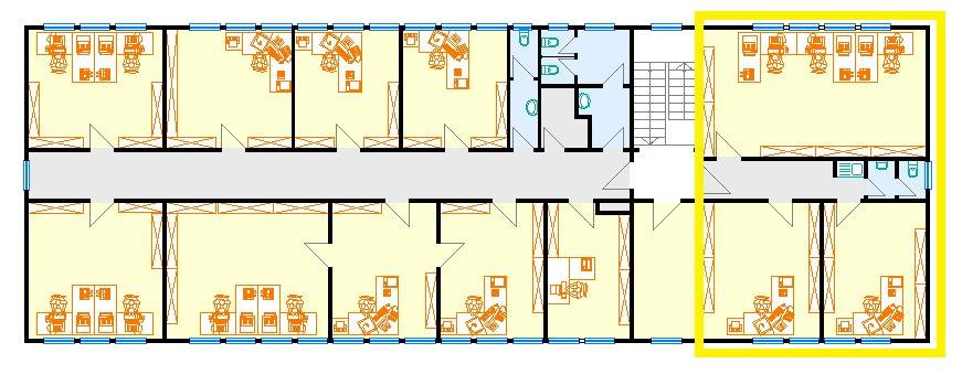 Grundriss Büro 90m²