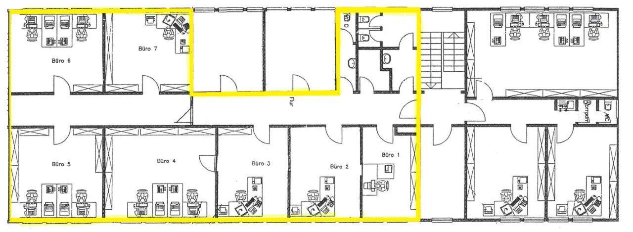 Grundriss Büro mit 197m²