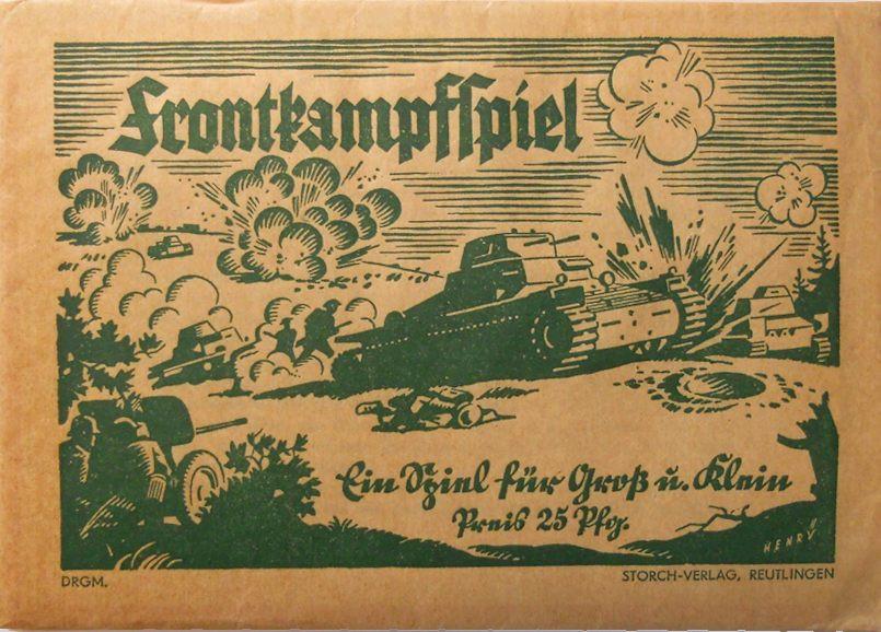 Titelbild eines Frontkampfspiels aus den 30er Jahren