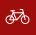 Ein Fahrrad als Symbol für Radfahren