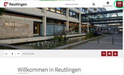 Ansicht der Homepage der Stadt Reutlingen