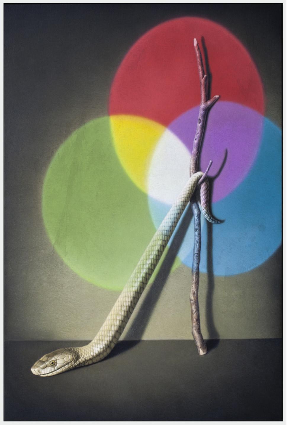 Gemälde Baum und Schlange