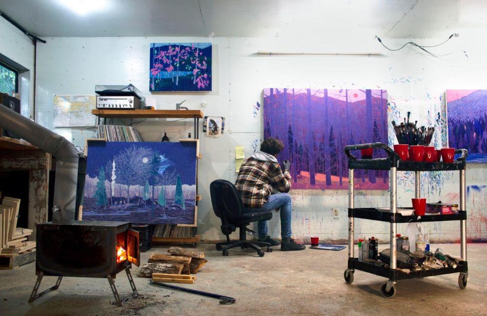 Kyle Scheurmanns Studio auf Vancouver Island