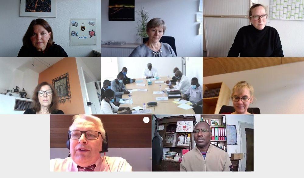 Videokonferenz mit Partnerstadt Bouaké