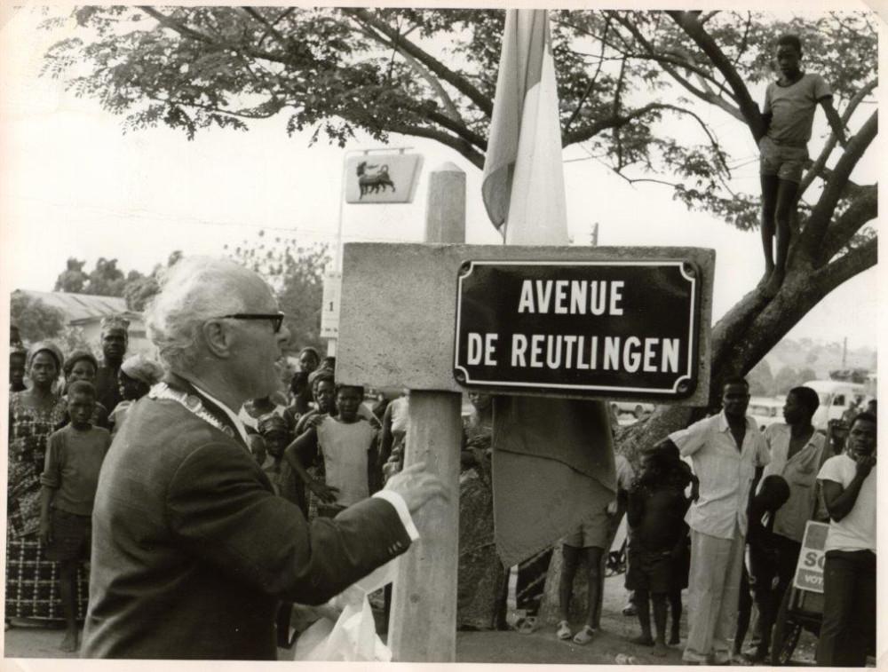 Oberbürgermeister Kalbfell in Bouaké