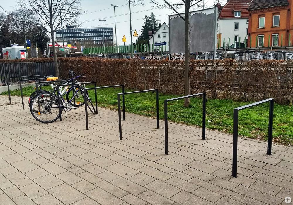Fahrrad-Parkplätze am Westbahnhof