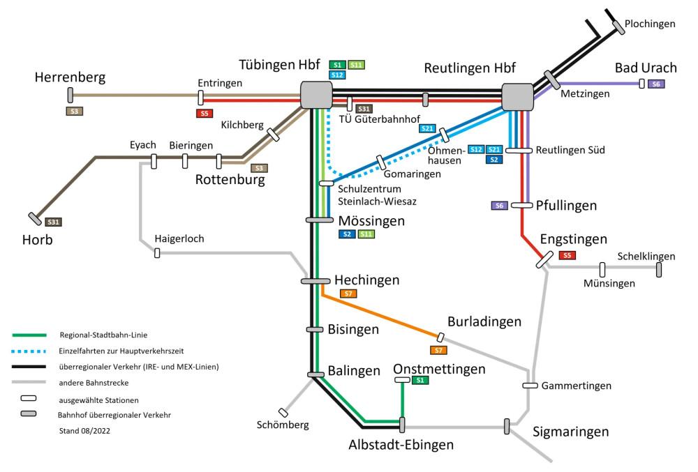 Liniennetzplan Stand Juni 2021